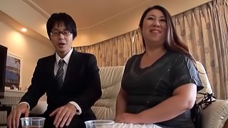 Fatty Japanese Babe gets pounded In A BBW Action