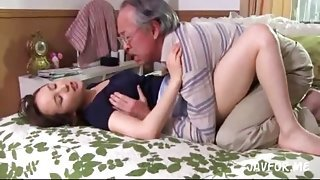 Kaori Saejima Fucks Horny Father-in-Law