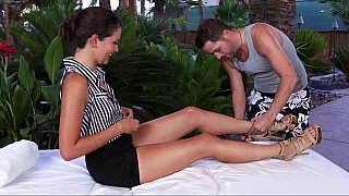 Allie Haze in naughty massage